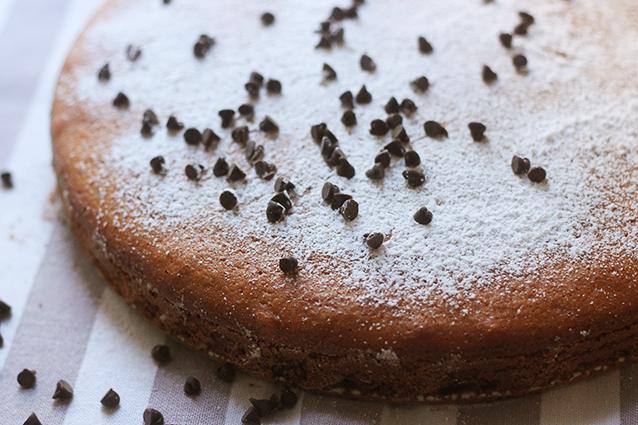 torta con scaglie di cioccolato